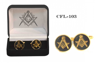 Masonic Accessories - 103 Gold Masonic Cufflings