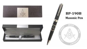 Novelty - Black Masonic Pen