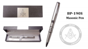 Novelty - Silver Masonic Pen