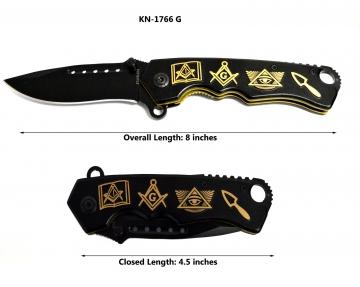 Knives - Masonic Gold Knife