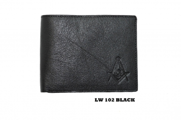 102 Black Mason Leather Wallet
