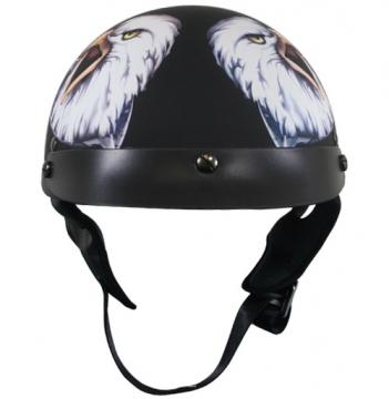 DOT Helmets - Outlaw American Eagle Helmet - Black - Size S-2XL