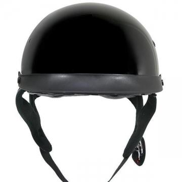 DOT Helmets - Gloss Black Helmet - Black - Size S-2XL