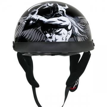 DOT Helmets - Viking Symbols Black Helmet - Black - Size S-2XL