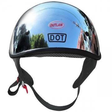 DOT Helmets - Chrome Dual Visor Helmet - Size S-2XL
