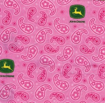 Accessories- John Deere Pink Bandanna
