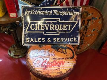 Metal Signage - Chevrolet Sales Sign