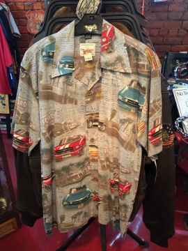 Short Sleeve Button Shirt - Ford Motors Shirt - Grey - Size M-3XL