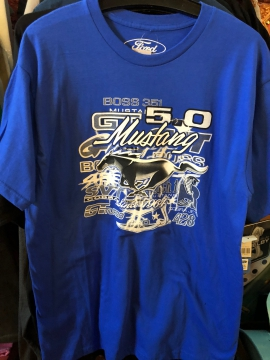 Short Sleeve T - Blue Mustang Short T - Light Blue - Size M-3XL