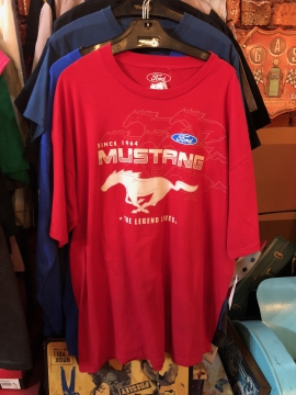 Short Sleeve T - Red Mustang Short T - Red - Size M-3XL