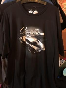 Short Sleeve T - Black Corvette Sting Ray Short T -Black/Grey - Size M-3XL