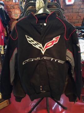 Nascar Jackets - Black Corvette Racing Jacket - Blue/Black/Red - Size M-4XL